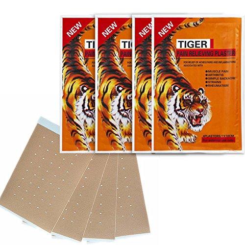 Balsam des Tigers Patch (Tiger Balm), A & M Fitness, Patches Anti Schmerz Recovery echtes reméde Chinesisch, ideal für Nackenschmerzen, Nacken, Schulter, Gelenke, Muskelkater... (Patch-fitness)
