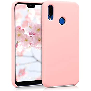 size 40 6688c 7a4f0 kwmobile TPU Silicone Case for Huawei P20 Lite - Soft Flexible Rubber  Protective Cover - Rose Gold Matte