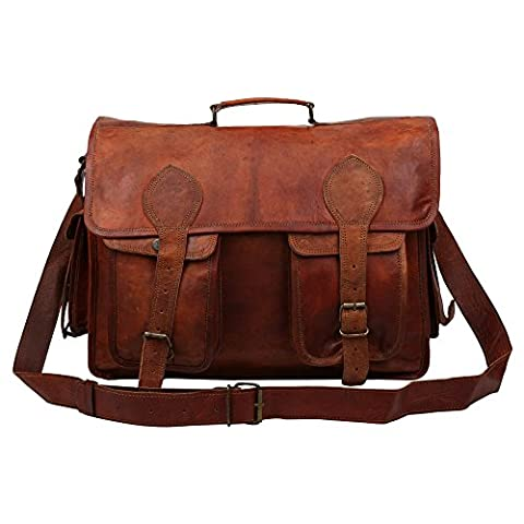 Genuine Leather Bag With Extra Inner Cushioning (L=40 x W=14