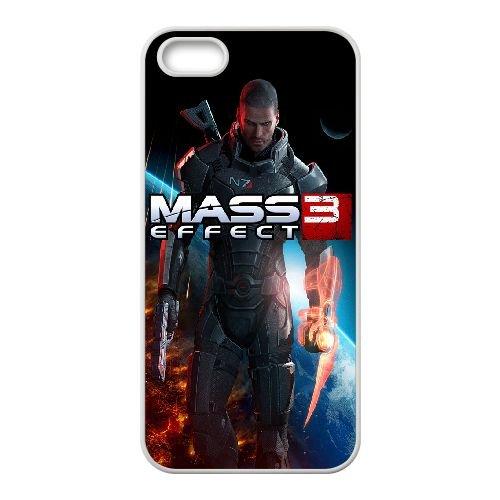 Commander Shepard Mass Effect 3 3 coque iPhone 4 4S Housse Blanc téléphone portable couverture de cas coque EBDXJKNBO16930