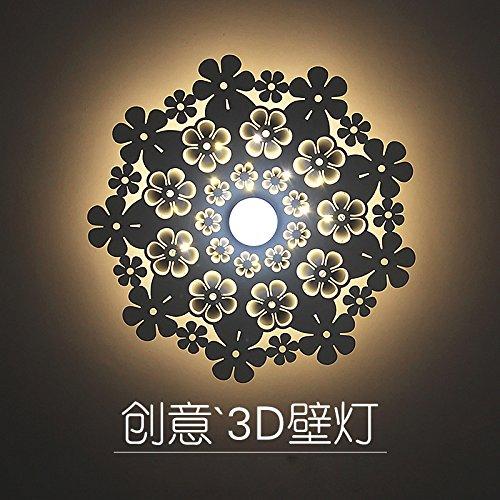 LIYANE27158Der Leiter der Doppelbett Schlafzimmer Wohnzimmer Wandleuchte gang Treppen Licht kreative Persönlichkeit led dekorative Wandleuchten, 25 cm Peacock - gelbe Leuchte 12W LED -
