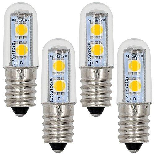 4X MENGS® E14 LED lampe Leuchtmittel & Birne 1W (100LM - Warmweiß 3500K - 120º Abstrahlwinkel - AC 220V - 7x5050 SMD LEDs - Ø15×48mm) Energiespar licht