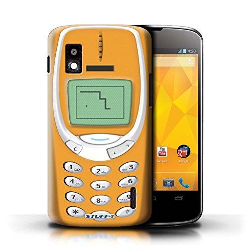 Kobalt® Imprimé Etui / Coque pour LG Nexus 4/E960 / Nokia 3310 gris conception / Série Portables rétro Nokia 3310 orange