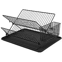 Simplywire - Escurreplatos plegable - Escurridor de platos duradero con  soporte para cubiertos - Negro 4b152f08d347