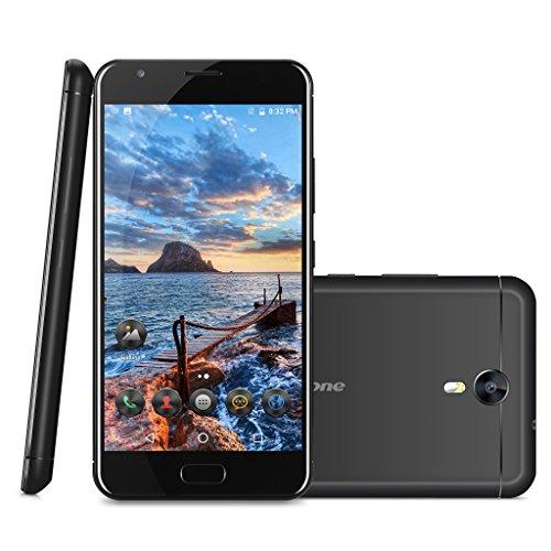 """Ulefone Power 2 - 4G Smartphone Libre ( Android 7.0, 5.5"""" FHD Pantalla, Resolución 1080 x 1920, MT6750T Octa Core 1.5GHz, 4Gb Ram 64GB ROM, Dual Sim, Cámara Dual 13MP + 5MP, Dual Wifi, 6050mAh Batería, Identificación de Huellas, Inteligente Gesto )(Negro)"""