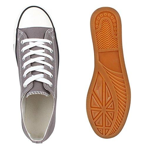 Damen Herren Kinder Unisex Schuhe Sneaker low Top Schnürschuh Halbhoch Grau