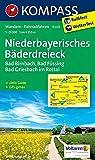Niederbayerisches Bäderdreieck: Wanderkarte mit Aktiv Guide und Radwegen. GPS-genau.1:25000: Wandelkaart 1:25 000 (KOMPASS-Wanderkarten, Band 200)