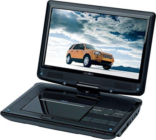 Reflexion DVD9003 tragbarer DVD-Player (22,9 cm (9 Zoll) TFT LCD Bildschirm, 180 Grad dreh/schwenkbar, 12 V Kfz-Anschlusskabel, Haltegurte, Fernbedienung)
