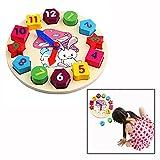 OFKPO Orologio Puzzle in Legno - Primi Educazione Puzzle Giocattoli Educativi del Bambino
