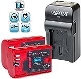 Baxxtar RAZER 600 II - Kit de carga 5 en 1 para Canon LP-E6 -cargador de baterías, 2 baterías Baxxtar Pro Energy de 2040mAh, cargador de coche, adaptador de corriente - para Canon EOS 70D 60D 60Da 7D 7D Mark II 6D 5D Mark II III