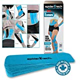 SpiderTech Universal I Strips Kinesiology Tape (20 Pack Tin) (Blue)