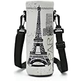 FBApbc1L-002 : IColor Water Bottle Carrier , Water Bottle Holder 1L (1000 Milliliter) W/Adjustable Shoulder Strap,Sling Insulated Outdoor Sports Water Bottle Bag Case Pouch Cover,Fits Bottle Diameter Less 2.75""