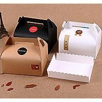 Chilly Lot de 10boîtes cadeaux pour gâteaux, cupcakes, chocolats ou biscuits avec plateaux et 37autocollants (3couleurs)