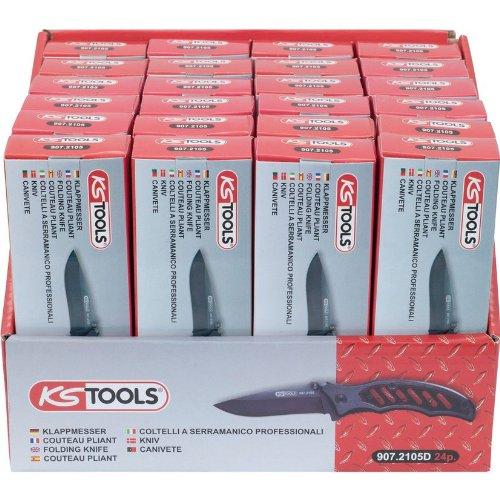 KS Tools 907.2105 D Lot de 24 canifs fonction bloquante avec pochette de ceinture