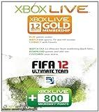 Carte Xbox 360 Live 12 mois + 800 points Fifa 12 (Jeu Non Inclus)