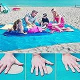 Sand-Frei Matte, Sand Proof frei Strand Matte Teppich Picknick Decke--Sand, Schmutz & Staub Verschwinden! - Schnell Trocken, Leicht zu Reinigen Perfekt für den Strand, Picknick, Camping, Outdoor Events, 200 * 200cm