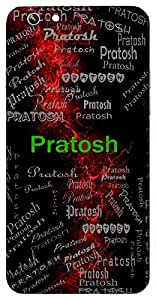 Pratosh (Extreme Delight) Name & Sign Printed All over customize & Personalized!! Protective back cover for your Smart Phone : Samsung Galaxy On-8