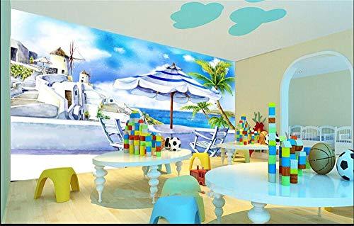 Muraon HD-Wandbild Benutzerdefinierte 3D-Fototapete Kinderzimmer Wandbild Französisch Riviera am Meer Stadt HD Foto Zimmer Sofa TV Hintergrund Vliestapete Wandbild, 430x300 cm (169,3 by 118,1 in) - Sofa Riviera
