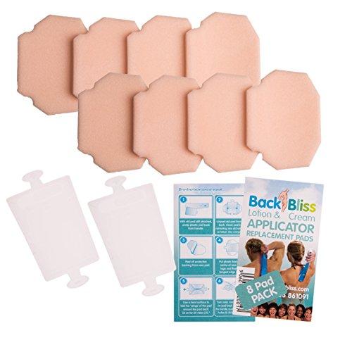 Ersatz-Pads für Rückseite Bliss Lotion und Creme Applikator-4Pads mit 1Pad Back -