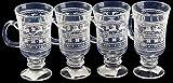 Set von 4Weihnachten Glühwein Trinken Glas/Goblet Gläser