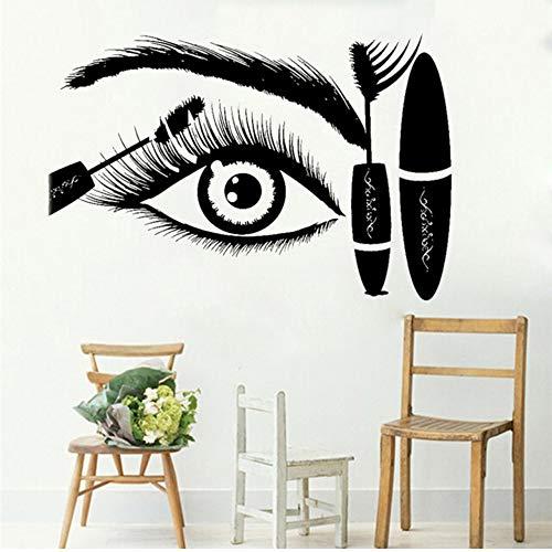 Mhdxmp Wimpern Auge Mascara Wandtattoo Kreative Augen Augenbrauen Schönheitssalon Shop Decor Bilden Zimmer Wanddekoration Aufkleber 42 * 63 Cm