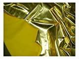 Fabrics-City GOLD BI-STRETCH LYCRA STOFFLACK METALLIC LACK