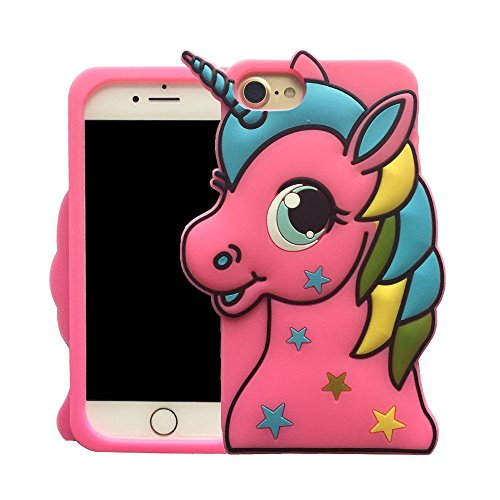 we3dcell (Sterne Einhorn) Fall Cute Lovely 3D Case Cartoon Animal Design Soft Silikon Back Case Cover für iPhone 6Plus/iPhone 6S Plus Pink (Iphone 6 Soft Case Cartoon)