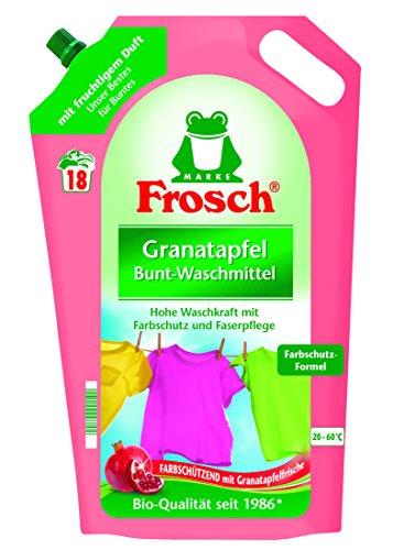 Frosch Granatapfel Waschmittel, 5er Pack (5 x 18 Waschladungen)