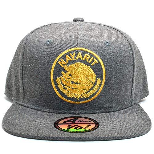 0569e5adf97d8 Hecho En Mexico Baseball Cap Eagle Mexican Aguila Snapback Flat Hat AYO1233  (Nayarit)