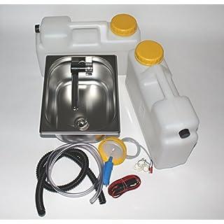 Wasseranlage Imbisswagen Verkaufsanhänger Campingküche 12v Bausatz Spüle 325x265x150 Integrierten Wasserhahn London Raumsparkanister (ad-ideen)