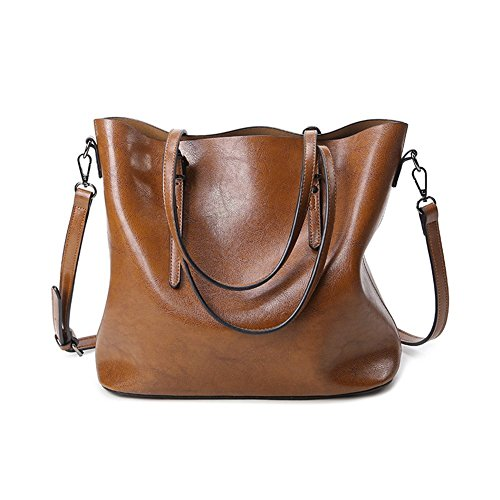 YAAGLE Neu Elegant große Handtasche Europäische Stil Leder Schultertasche Weich Damentasche