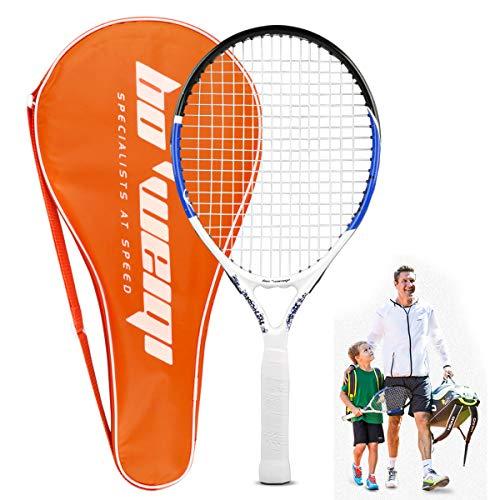 Calmare Racchetta da Tennis, Racchetta da Tennis in Alluminio compreso Tennis Bag-Racchette da Tennis per Bambini, Uomini e Donne (55cm)