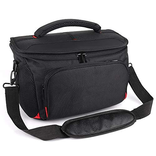 HNAKET Wasserdichte Anti-Schock-DSLR-Kameratasche mit extra Regenschutz für Canon-Kamera mit DREI oder Zwei Linsen und Blitz