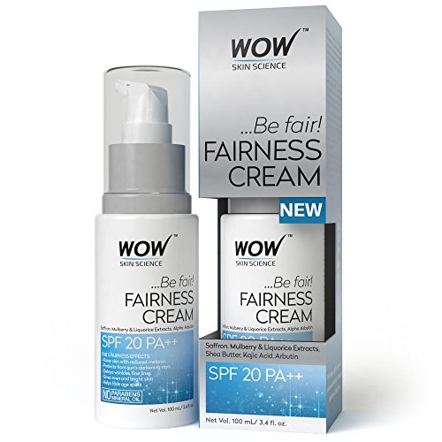 NEW! WOW Fairness Cream - SPF 20 PA++ - infused with Saffron Mulberry,liquorice Extract & Alpha Arbutin-No Paraben & Mineral Oils- 100ml