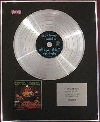 Marilyn Manson-CD platinum disc-Ritratto di una famiglia americana
