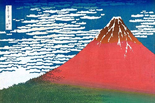 Katsushika Hokusai Poster, Motiv Mount Fuji, 30,5 x 45,7 cm 36x54 inches Poster (Poster Mount Fuji)