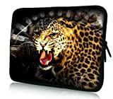 Luxburg® Design Laptoptasche Notebooktasche Tablet PC eBook Reader Tasche bis 8,1 Zoll, Motiv: Gepard