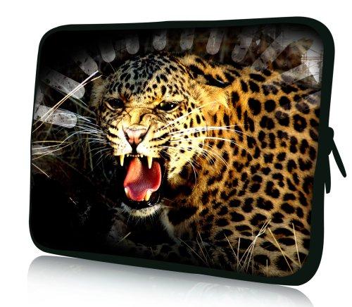 Luxburg® Design Laptoptasche Notebooktasche Sleeve für 13,3 Zoll (auch in 10,2 Zoll | 12,1 Zoll | 13,3 Zoll | 14,2 Zoll | 15,6 Zoll | 17,3 Zoll) , Motiv: Gepard