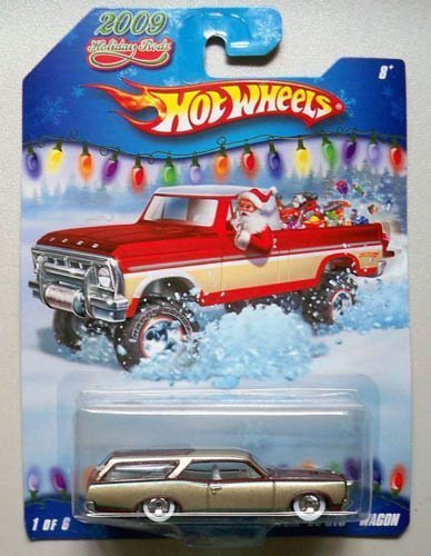 Hot Wheels 2009 Holiday Rods #1/6 - Maroon/Gold Custom '66 GTO Wagon by Hot Wheels (Wheels Gto Hot)