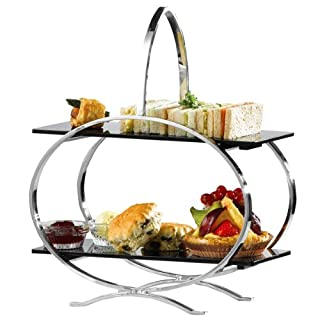 Stainless Steel Cake Stand & 2 Inserts | Artis Cake Stand, Afternoon Tea Stand, 2 Tier Cake Stand