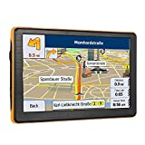 7 Inches 8G Sat Nav Car GPS Navigation with Touchscreen Include UK and EU Latest Maps and Lifetime Free Updates