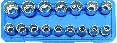 BGS 2226 Steckschlüssel-Einsätze 12,5 (1/2), 8-24 mm, 12-kant, 16-tlg.