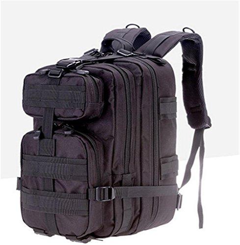Nylontasche Multifunktions-Schultertasche wasserdicht Bergsteigen Taschen taktischer Außensporttasche Black
