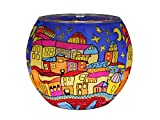 Teelichthalter Leuchtglas Rund Kerzenhalter Glas Teelicht Votivglas Weihnachstmotiv Leuchtglas Bridge 21639