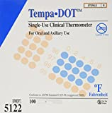 Tempa-Dot Disposable Thermometer Sterile (Box of 100) Fahrenheit only