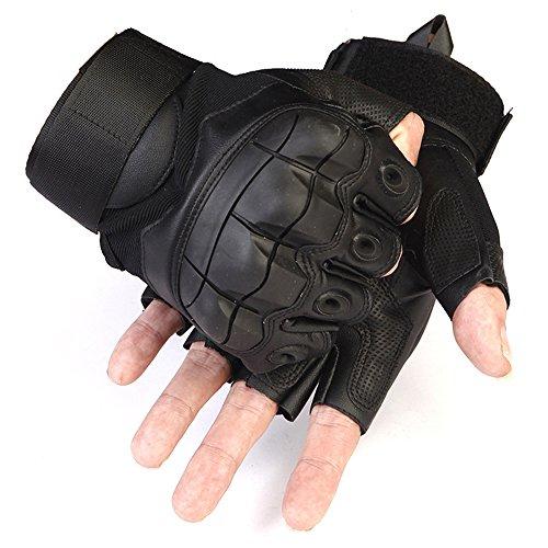 oobest Shooting Handschuhe Fingerlose Handschuhe Half Finger mit für Motorrad, Reiten Softair-golves