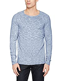 Selected Men's Shnclash Linen Crew Neck Jumper