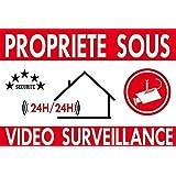 """Panneau de dissuasion """"propriéte privée sous vidéo surveillance"""" 300x200mm"""