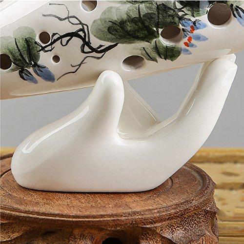 Bolange Porzellan Ocarina Display Zubehör Ocarina Collector Keramischer Handstand Für Musikliebhaber Porzellan