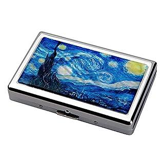 Perlmutt Sternnacht bei Van Gogh Gemaelde Design 100S King Size Edel Luxus Zigarette Zigaretteneuti Metal